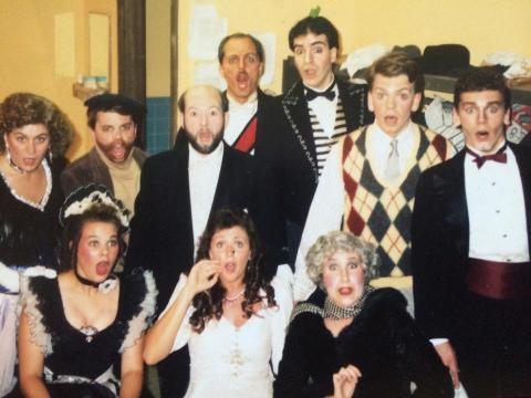 something's afoot brown county playhouse cast 1990s