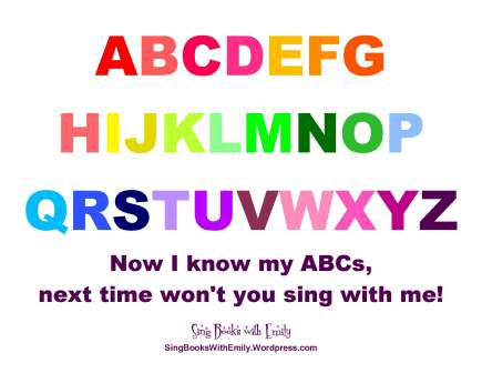 ABCs, the Alphabet Song, Illustrated | Sing Books with Emily, the Blog