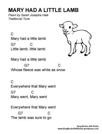 Mary Had A Little Lamb An Illustrated Song Sing Books