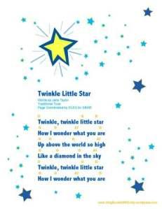 twinkle little star sheet w chords by ELEG for SBWE