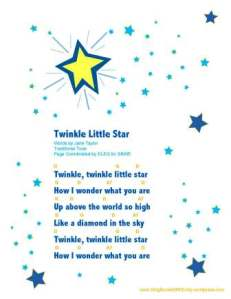 twinkle little star sheet w chords by ELEG for SBWE