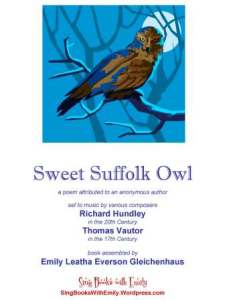 sweet suffolk owl book for singing book cover
