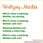 waltzing matilda refrain for book