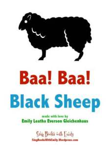 baa baa blacksheep eleg sbwe cover