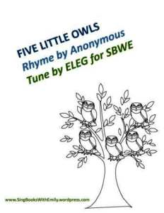 five little owls book for ELEG SBWE cover only