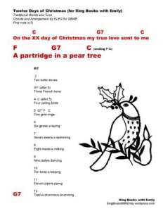 12 Days of Christmas (w chords for SBWE)