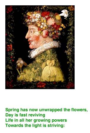 The flower carol tempus adest floridum an illustrated song sing arcimboldo born 1526 died 1593 was painting in the same time period in which the flower carol first debuted in print mightylinksfo