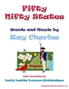 fifty nifty states portrait for song book cover