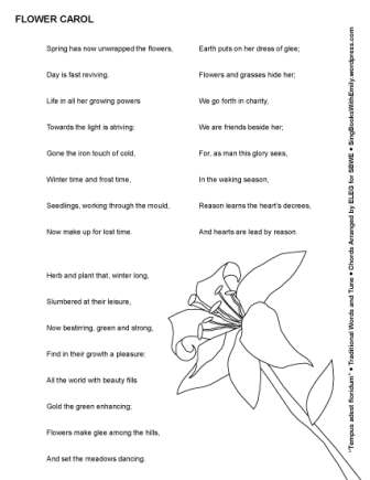 The flower carol tempus adest floridum an illustrated song sing the flower carol tempus adest floridum an illustrated song sing books with emily the blog mightylinksfo