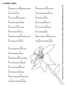 flower carol ELEG SBWE w chords - School