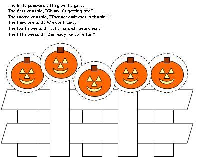Five little pumpkins a singable picture book sing books for Five little pumpkins sitting on a gate coloring page