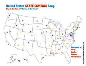 us state capitals song cover only