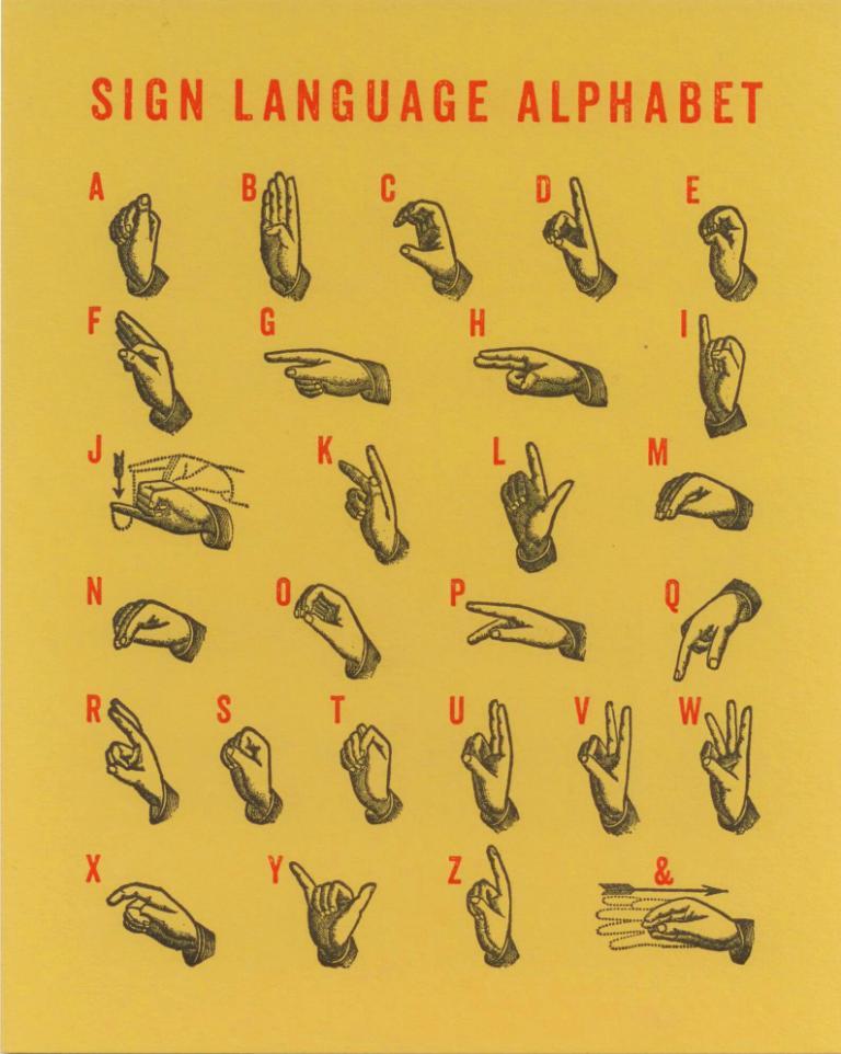 Graphic Design American Sign Language