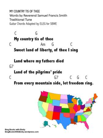 My Country tis of Thee for SBWE w chords