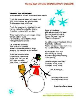 SBWE Advent Calendar Frosty the Snowman