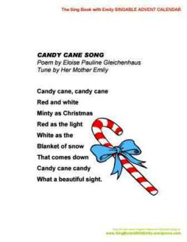 Candy Cane Song, for the SBWE Singable Advent Calendar ...