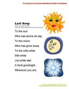 SBWE Advent Calendar Last Song
