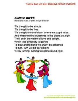 SBWE Advent Calendar simple gifts