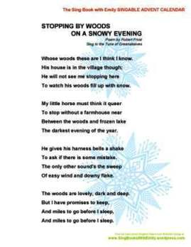 an examination of robert frosts poem stopping by woods on a snowy evening Paragraph analysis of stopping by woods on a snowy evening by robert frost in stopping by woods on a snowy evening, robert frost contemplates death the setting symbolizes death.