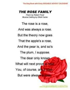 SBWE Advent Calendar the rose family