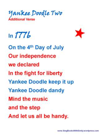 Yankee Doodle, an Illustrated Song | Sing Books with Emily, the Blog