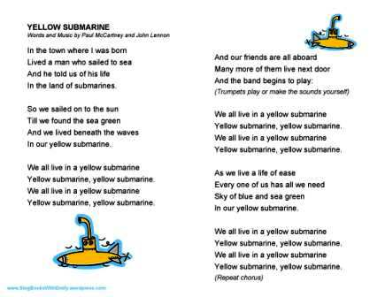 Yellow Submarine, a Singable Picture Book | Sing Books with Emily ...