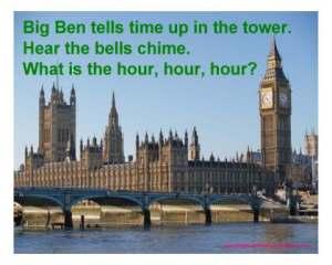 big ben tells time