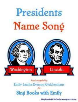 Presidents Name Song - cover only 2