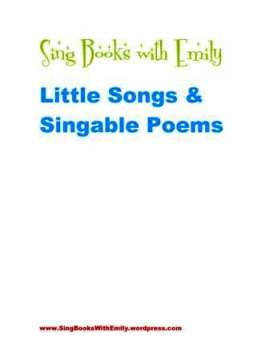 sbwe little songs & singable poems cover