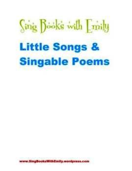 sbwe little songs & singable poems cover