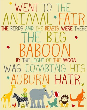 animal fair song poster