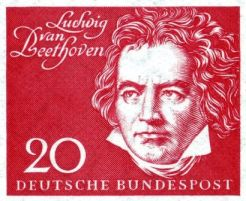 1959 Ludwig_van_Beethoven German stamp