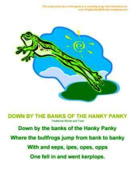 down by the banks of the hanky panky