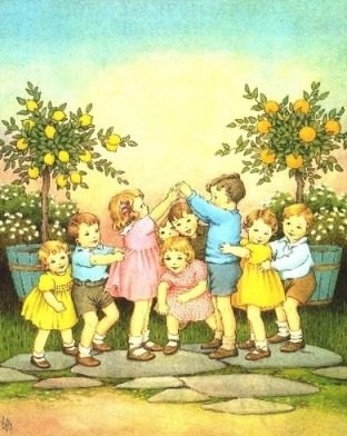 oranges & lemons game Ida Rentoul Outhwaite