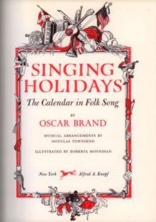 singing holidays oscar brand inside cover