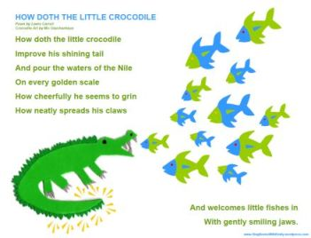 how doth the little crocodile song sheet
