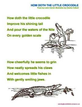 how doth the little crocodile sheet folkard