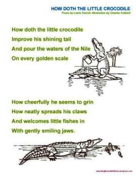 how doth the little crocodile sheet folkard