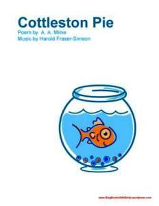 COTTLESTON PIE book sbwe cover only