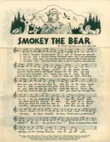 smokey the bear song 1 - smaller
