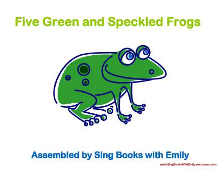 five green and speckled frogs sbwe cover only