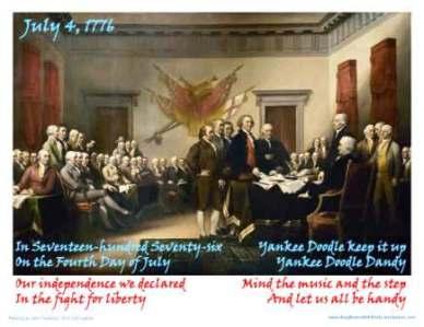 yankee doodle 1776 verse eleg sbwe