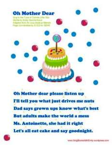 Oh Mother Dear Please Listen Up by ELEG for SBWE
