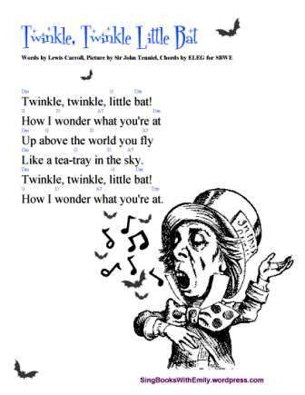 TWINKLE TWINKLE LITTLE BAT: A Singable Poem with Pictures and a Play ...