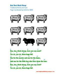 baa baa blacksheep eleg sbwe 1 page