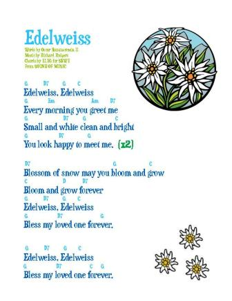 edelweiss w guitar chords (eleg loved one) updated
