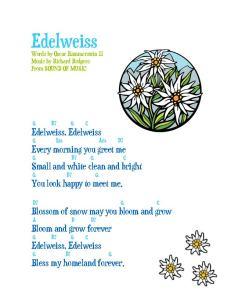 edelweiss w guitar chords