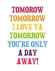tomorrow 4 sbwe i love ya tomorrow
