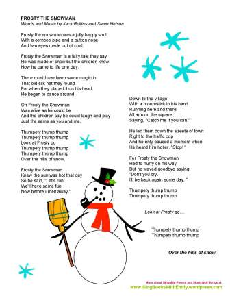 photo about Frosty the Snowman Lyrics Printable referred to as Frosty the Snowman, a Singable Consider E-book Sing Guides