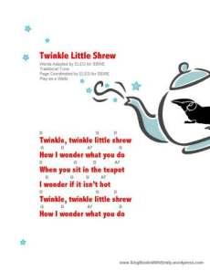 twinkle little shrew sheet w chords by ELEG for SBWE